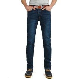 超高彈力牛仔褲男 款修身直筒牛仔長褲 有彈性 大碼長褲子