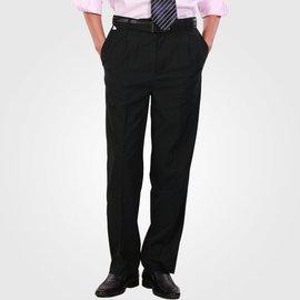 長褲直筒商務紳士工作工作服褲子服務員酒店黑色職業男西褲