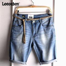 lee sebon 男士牛仔短褲修身五分褲男裝中褲525薄款 潮