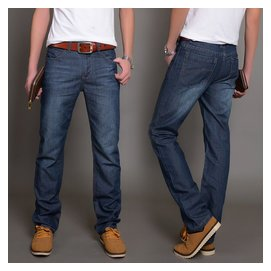 2014 厚款牛仔褲男直筒修身傑克瓊斯男士牛仔褲 潮長褲大碼