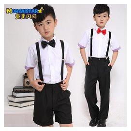 童星閃閃 兒童表演服飾演出服裝男生舞台裝 幼兒園學生合唱服