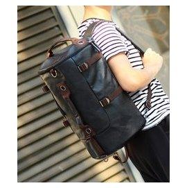 品圓筒 背包大容量單肩書包男士多 雙肩包旅行水桶行李包