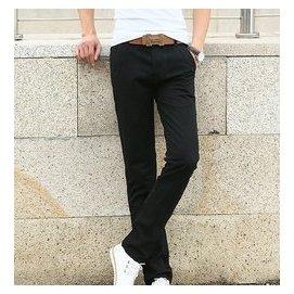 品春 直筒修身偏小休閒褲青年男士薄款長褲 棉質大碼男褲商務