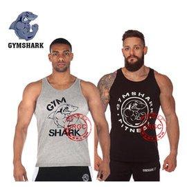 基礎gymshark健身健美 工字跨欄肌肉純棉汗型男夏緊身背心寬松