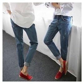 2016森馬 大碼牛仔褲女寬松顯瘦哈倫褲 長褲女褲小直筒