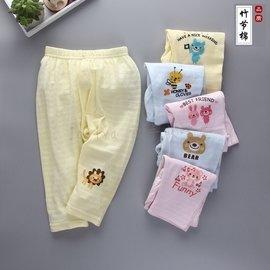 ~ ~黃色長褲 竹節棉 薄長褲  超薄 透氣 涼爽 防蚊褲 寬鬆打底褲 睡褲 兒童長袖內睡