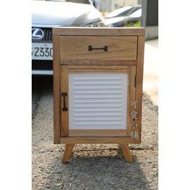 台中 ~可愛小舖傢俱家飾 ~法歐英美式 鄉村風原木製極簡單抽白色單門床頭邊櫃雙人床架組衣櫥
