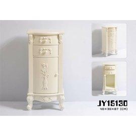 台中~可愛小舖傢俱家飾 ~法歐式古典鄉村風宮廷洗白色二抽單門櫃 雕刻花茶几床頭櫃雙人床架組