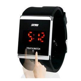 正品時刻美 LED學生 果凍電子表 男士女士情侶觸屏手表