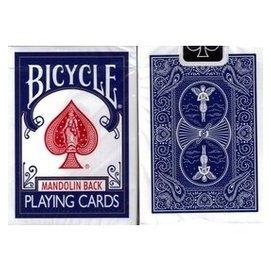 撲克牌 Bicycle 809 MANDOLIN 曼陀鈴 藍色背紋 1副
