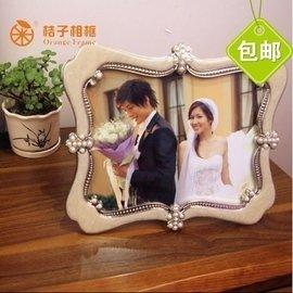 桔子相框 維也納家居飾品擺件高檔歐式婚禮田園 玻璃面相架擺臺框