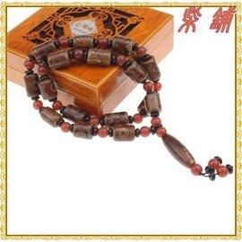 ~柴鋪~正品 天然西藏瑪瑙  圓珠狀瑪瑙吊墜天珠項鍊   女款長毛衣鏈
