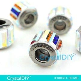 施華洛世奇水晶串飾180301 長水晶中孔_水晶亮彩^(^#001AB^)10.5mm單顆