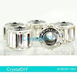 施華洛世奇水晶串飾180301 長水晶中孔_水晶^(^#001^)10.5mm單顆 於潘朵