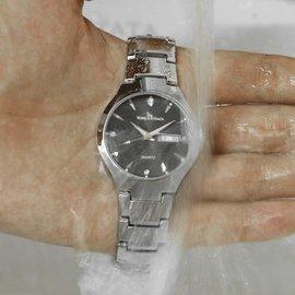 正品學生 潮流簡約男表 鋼帶女表防水情侶夜光機械石英手錶