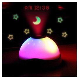 星月投影鬧鐘靜音夜光時鐘 led電子表迷你 懶人貪睡床頭鐘