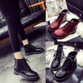 ~印象閣樓~  女靴學院風 英倫女鞋學生單鞋馬丁靴子內增高短靴皮靴^(340元^)