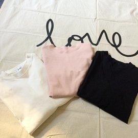 ~印象閣樓~ 純色套頭百搭打底衫女夏短款韓國寬鬆簡約修身短袖T恤打底上衣服