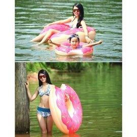 廠家  甜甜圈游泳圈120cm 成人超大號加厚充氣救生圈泳圈 101元