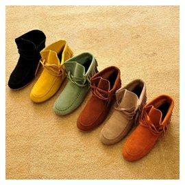 春秋牛皮流蘇靴牛筋底真皮平跟短靴孕婦平底女單靴大碼女士靴子