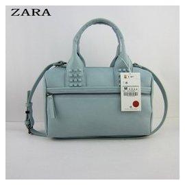 2014 ZARA女包正品 鉚釘保齡球包 單肩斜 包手提枕頭包
