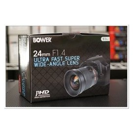 [CYF CANON 单眼及镜头配件馆] 全新BOWER / ROKINON 24mm F1.4 ED AS IF UMC 大光圈广角镜头 FOR CANON 录影必败! SAMYANG代工