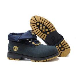 ╭~米猜Shop~╮Timberland 天伯倫 57557 深藍色 金鍊 反折靴 男款