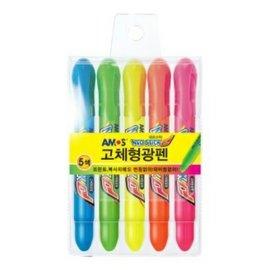 韓國AMOS~3色 5色果凍螢光蠟筆(韓國境內版) 100元