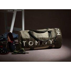 Tommy 湯米單肩新款帆布包健身包波士頓包休閑旅行包袋手提袋籃球
