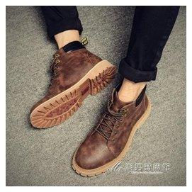 ~ 男士馬丁靴男靴子加絨保暖棉靴雪地短靴沙漠靴英倫皮靴工裝靴 潮男 館igo