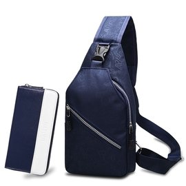 男胸包 迷彩 胸前包帆布戶外旅行腰包斜跨背包