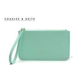 IN House^~ 新加坡小CK 簡約風 皮質手拿零錢包 證件卡包 手機袋 ~ 粉綠 ^