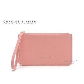 IN House^~ 新加坡小CK 簡約風 皮質手拿零錢包 證件卡包 手機袋 ~ 粉 ^(