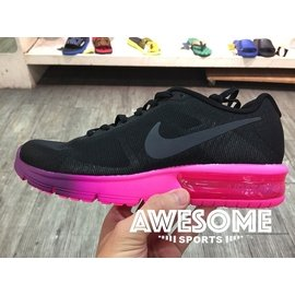 WMNS NIKE AIR MAX SEQUENT 黑 桃紅 透氣 氣墊 慢跑鞋 女鞋 7