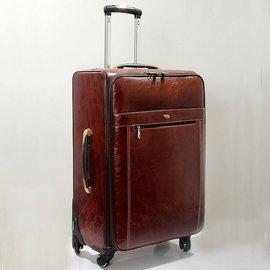 牛皮拉桿箱商務行李箱真皮旅行箱登機箱萬向輪20寸24寸28寸男女16