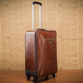 萬向輪真皮拉桿箱18寸男女行李箱26寸牛皮旅行箱商務登機箱密碼箱