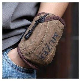 牧之逸腰包 手腕手機包 手臂包 迷你小包 男士 包帆布包鑰匙包
