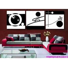 ~厚1.2cm~ 客廳掛畫抽象畫黑白裝飾畫臥室辦公室無框畫~260108_0986~~30