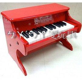 ㄅㄚˊㄅㄚˊ愛玩具,    美國Schoenhut平台玩具鋼琴2522R~25鍵 紅