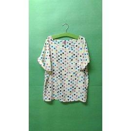 ~多彩糖果水玉點點反摺袖前胸口袋短袖上衣 T恤 2