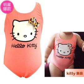 新品外貿原單HelloKitty可愛兒童連體女童寶寶嬰兒泳裝遊泳衣溫泉