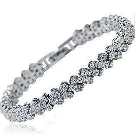 奧地利 水晶手鏈 女生 鋯石  人造鑽石完美羅馬
