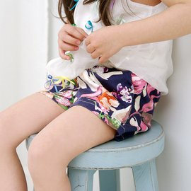 米寶寶 女童全棉印花短褲兒童舒適中腰皮筋純棉熱褲裙褲子
