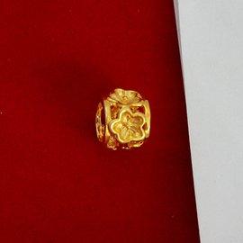 E41 仿黃金24K真空鍍金飾品 女士花型吊墜 項墜 黃銅吊墜