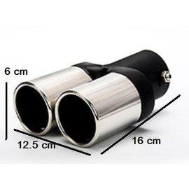 不鏽鋼 雙出直管平口尾飾管 直尾管 38~55mm口徑
