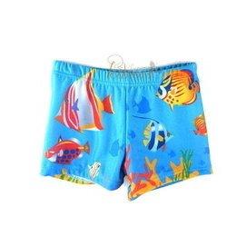 543 ~CP017~可愛水藍海底世界男童泳褲 戲水游泳