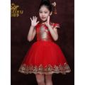 ~ 喔~ 兒童旗袍 寶寶刺繡女童唐裝演出服中式小孩旗袍 連衣裙