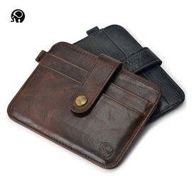 油蠟皮 超薄男士錢包短款 真皮駕駛證件套 卡包 零錢包銀行卡卡套