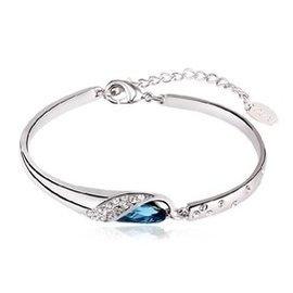 2014 華洛世奇水晶手鏈女藍寶石手鐲手環日韓 首飾品送閨蜜