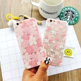 日系櫻花 iphone 6 6s 6s plus 手機殼 小清新 保護套 透明軟殼 kit